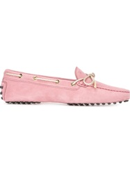 Tod's Bow Loafers Pink And Purple