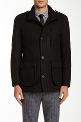 Andrew Marc New York Terry Wool Blend Jacket Black