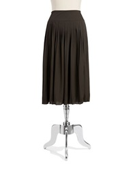 Jones New York Pleated Skirt Olive