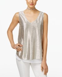 Inc International Concepts Metallic Layered Look Tank Top Only At Macy's Silver