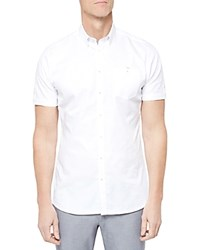 Ted Baker Beachee Short Sleeve Classic Fit Oxford Shirt