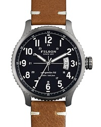 Filson The Mackinaw Field Leather Strap Watch 43Mm