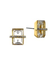 Louise Et Cie Goldtone And Clear Baguette Stud Earrings