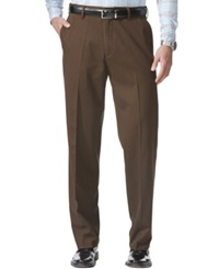 Dockers D4 Relaxed Fit Comfort Khaki Flat Front Pants Lumber