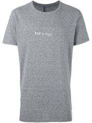 Rta Rest In Peace Print T Shirt Grey