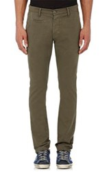 Barneys New York Men's Twill Chinos Dark Green