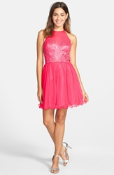 Steppin Out Beaded Party Dress Camellia Rose