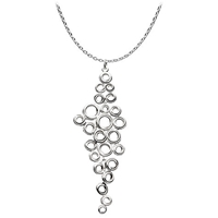 Kit Heath Coil Cluster Necklace Silver