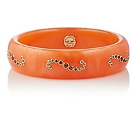 Mark Davis Women's Mixed Gemstone And Orange Bakelite Bangle No Color