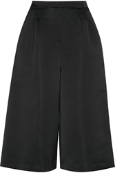 Msgm Sateen Bermuda Shorts Black