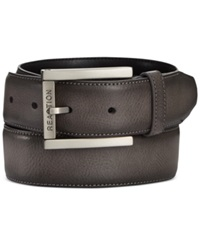 Kenneth Cole Reaction Cut Round Belt Grey