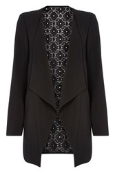 Roman Originals Waterfall Jacket With Lace Back Black