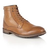 Frank Wright Action Mens Lace Up Boots Brown