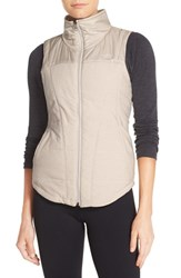The North Face Women's 'Pseudio' Quilted Vest Moonlight Ivory Heather