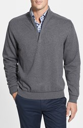 Men's Big And Tall Cutter And Buck 'Broadview' Half Zip Sweater Charcoal Heather