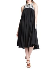 Plenty By Tracy Reese Flared Halter Dress Black