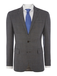 Polo Ralph Lauren Prince Of Wale Sky Blue Check Slim Fit Suit Grey