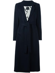 Eggs Belted Mid Coat Blue