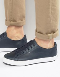 Kickers Tovni Lacer Leather Trainers Navy