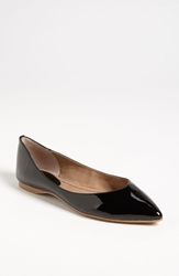 Bp 'Moveover' Pointed Toe Flat Black Patent