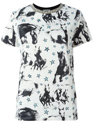 Fausto Puglisi Horse Print T Shirt Nude And Neutrals