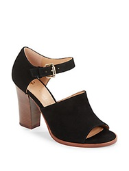 Vince Camuto Signature Wide Band Suede Ankle Strap Sandals