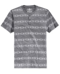 American Rag Men's Stripe Henley Only At Macy's Navy Heather