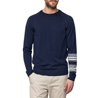 Wood Wood Navy Bakoo Sweater Blue