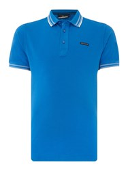 Duck And Cover Men's Acute Classic Signature Pique Polo Shirt Sapphire