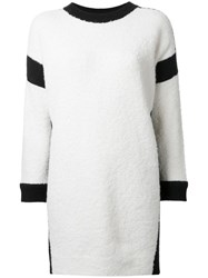 Theatre Products Longsleeved Knit Dress White