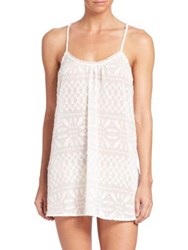 In Bloom Fatima Clipped Chiffon Chemise Ivory