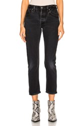 Re Done High Rise Ankle Crop In Black