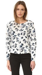 Club Monaco Etheline Printed Top Wallpaper Floral Combo
