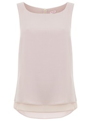 Phase Eight Vora Crepe Sleeveless Blouse Putty