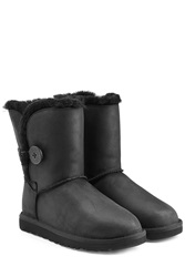 Ugg Australia Bailey Button Leather Boots Black