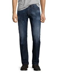Diesel Buster L30 Faded Straight Leg Jeans Blue