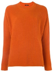 Odeeh Crew Neck Jumper Yellow And Orange