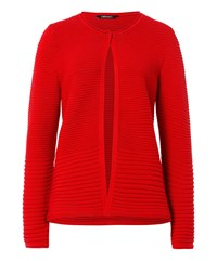 Olsen Ribbed Cardigan Red
