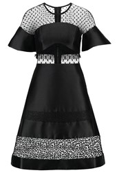 Three Floor Coquette Cocktail Dress Party Dress Black Nude
