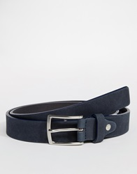 Selected Leather Belt Blue