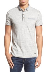 Boss Orange Men's 'Pyx' Slub Jersey Pocket Polo Grey