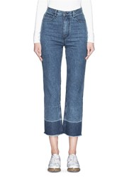 Rachel Comey 'Legion' Raw Edge Cuff Slim Leg Jeans Blue