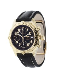 Breitling 'Chronomat' Analog Watch Black