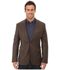Robert Graham New Abbey Woven Sportcoat Rust Men's Coat Red