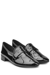 Repetto Maestro Patent Leather Loafers Black