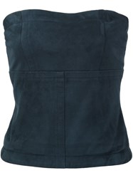 Yigal Azrouel Strapless Bustier Top Black