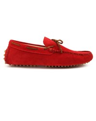Menlook Label Harvey Red Moccasins
