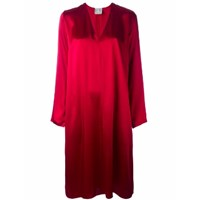 Forte Forte Satin Tunic Dress In Red