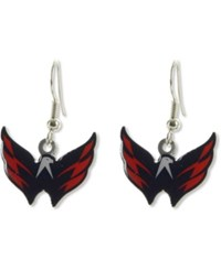 Aminco Washington Capitals Logo Earrings Team Color