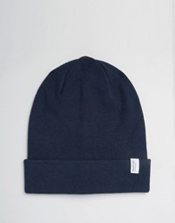 Selected Homme Beanie Leth Navy